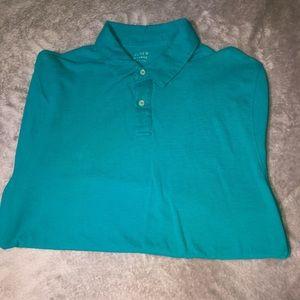 Blue J. Crew Short Sleeve Polo